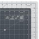 ARTEZA Tappetino da Taglio Autorigenerante, Base di Taglio Formato (30,5 x 45,7 cm), Spessore 3mm, Griglia Girevole Professionale in Pollici, Per Patchwork, Cucito Creativo, Scrapbooking, Decoupage