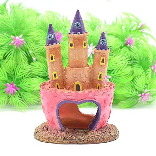 Masterein Dekoelement für Aquarium, Prinzessinnen-Schloss, Rosa (Dekoration Schloss Prinzessin)