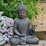 INtrenDU Bouddha Statuette Chinois 54cm décoration Zen pour intérieur extérieur Jardin Zen, Feng Shui Statue