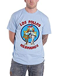 Officially Licensed Merchandise Breaking Bad Los Pollos Hermanos T-Shirt (Skyblue), Large