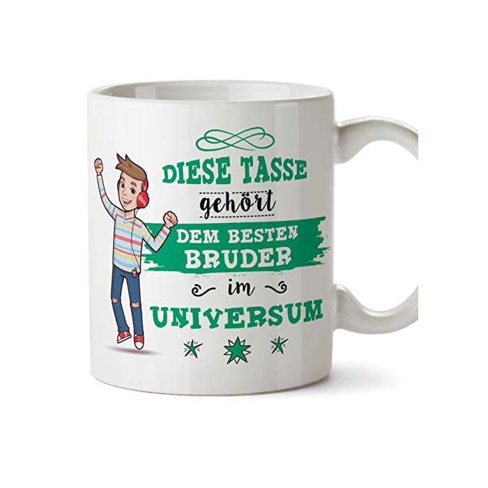 Mugffins Bruder Tasse/Becher/Mug - Diese Tasse gehört dem besten Bruder im Universum - Schöne und lustige Kafeetasse als…