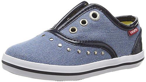 Levis Footwear Frenchy, Mädchen Ballerinas Blau (Bleu)