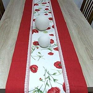 Wunderbare Tischläufer, das Beste Geschenk für die schönste Küche von HomeAtelier, Roter Mohn, 130x40cm, 150x40cm, 170x40cm