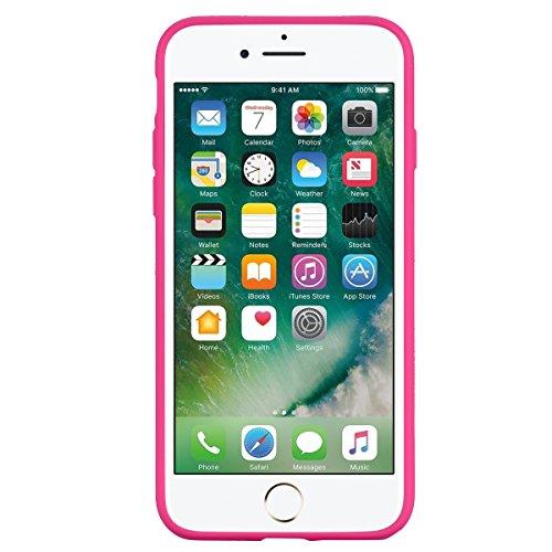 Apple iPhone 7 Hülle, Voguecase Silikon Schutzhülle / Case / Cover / Hülle / TPU Gel Skin für Apple iPhone 7/iPhone 8 4.7(Regenbogen-Einhorn/Blau) + Gratis Universal Eingabestift Regenbogen-Einhorn/Rose