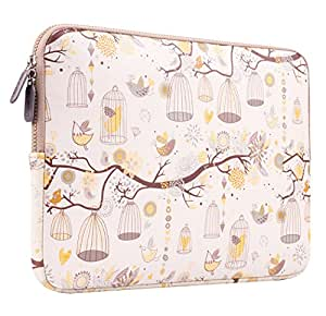 Plemo 13-13.3 Inch Laptop Sleeve Case Waterproof Canvas Fabric Bag for MacBook Air / 13.3-Inch Laptops / Notebook, Yellow
