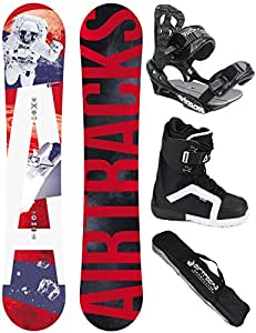 AIRTRACKS SNOWBOARD SET - BOARD HIGHER 150 - SOFTBINDING SAVAGE - SOFTBOOTS MASTER 40 - SB BAG
