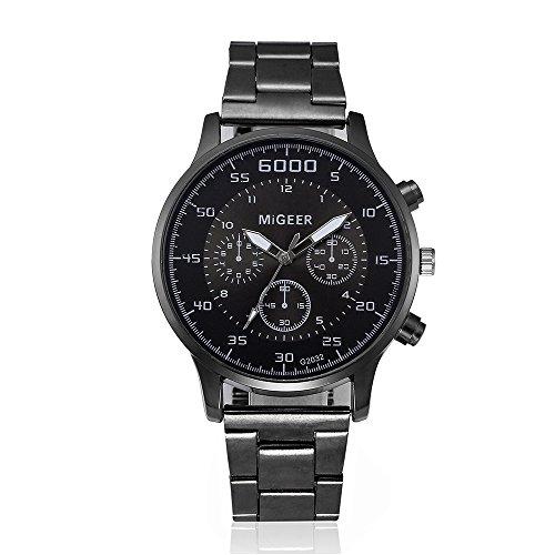Suitray Uhren Herren,Luxus Retro Design Männer Leder Armbanduhr Men Geschäft Analoge Quarzuhr Uhr Geschenk,Runde Zifferblattgehäuse Lederband Uhren - Verkauf Uhren Männer Zum