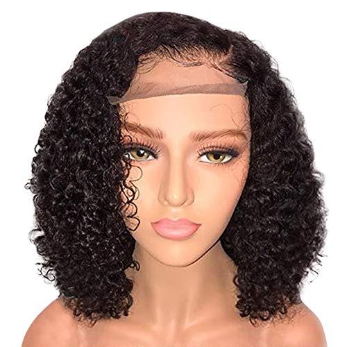 Rosennie Deep Curly Wave Brazilian Perucken Brasilianische Short Bob Vordere Spitze Menschenhaar Perucke Naturlich Aussehende Frauen