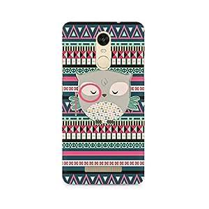 Rayite Mr Owl Premium Printed Case For Xiaomi Redmi Note 3
