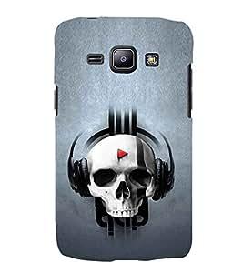 EPICCASE Skull music Mobile Back Case Cover For Samsung Galaxy J1 (Designer Case)