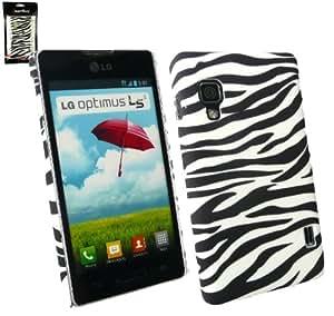 Emartbuy ® LG Optimus L5 II E460 Zebra Schwarz Weiß Clip On Protection Case / Cover / Haut