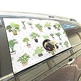 Reopx Haus Haus Grün Schöne Pflanzen Faltbare Hund Sicherheit Auto Gedruckt Fenster Zaun Vorhang Barrieren Protector Für Baby Kind Einstellbare Flexible Sonnenschutzabdeckung Universal Fit Für SUV