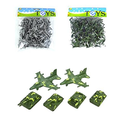 Army Men Action-Figur-Models Toy Soldiers Toy Geschenke / Toy Tanks -200PCS (Male Model-figur)