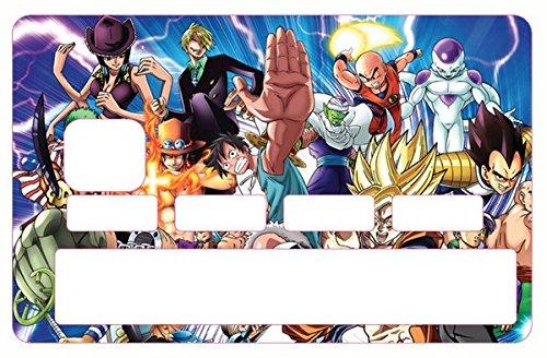 Deco-idees Stickers, Autocollant pour Carte bancaire - Manga Family - Différenciez et décorez Votre Carte bancaire Suivant Vos Envies!! Facile à Poser, sans Bulles