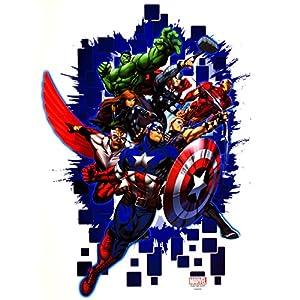 alles-meine.de GmbH 3 Stück _ große – XL – Fensterbilder – The Avengers – inkl. Name – 38 cm – statisch haftend…