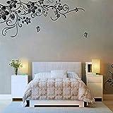QTZJYLW Hohe Qualität Entfernbare Vinyl Wand Aufkleber Wandbild Aufkleber Kunst Blumen Und Rebe (50 × 70Cm)