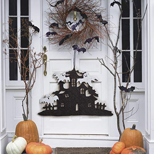 Kostüm Kleinkind Schrecklich - Smonke Halloween Deko,DIY gruselige Halloween Vliestür hängen Dekor Spukhaus Fledermaus Home Party Decor Geiststütze-Halloween-Dekorationen Gespenst Decoration Karneval