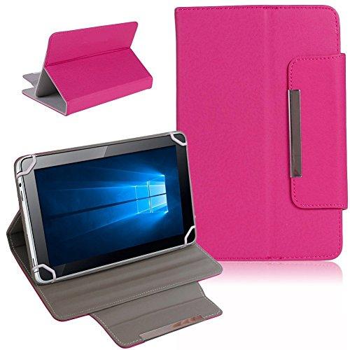 Tablet Schutz Tasche Hülle für ARCHOS 101b Xenon Case Cover Universal Bag NAUCI, Farben:Pink