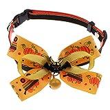 FLAMEER Halloween Hundehalsband mit Glocke und Fliege für Mittlere Hunde - Fledermaus