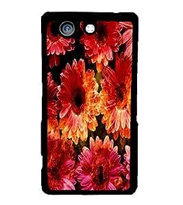 Fuson 2D Printed Flower Designer back case cover for Sony Xperia Z4 Mini - D4481