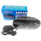 220V EU Plug AM FM Dual Frequency Radio Alarm Clock Digital LED Clock Luminous Clock Snooze Electronic Home Table Clock