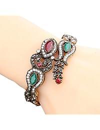 Shining Diva Fashion Jewellery Stylish Antique Gold Plated Traditional Cuff Bracelet Bangle For Women & Girls