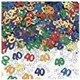 Happy 40th Birthday / Anniversary Assorted Table Confetti