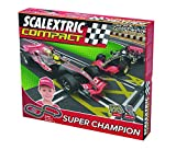 Scalextric Compact - Circuito Super Champion CC3D Compacto: escala reducida 1:43 - ocupa menos (C10124S500)