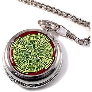 Irisch keltische Kreuz Full Hunter Taschenuhr