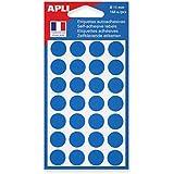 AGIPA Sachet de 168 étiquettes Gommettes de signalisation Rondes 15 mm Bleu