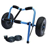 Legacy Kayak Cradle Trolley Universal Canoe Cart & Kickstand, Straps, Puncture Proof Tyres