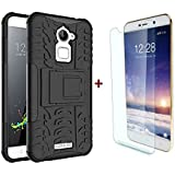 YuniKase (COMBO OFFER) for Coolpad Note 3 Lite -Premium Back Cover + Tampered Glass Mobile Screen Protector -(Black)