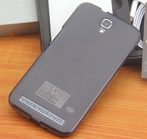 Prevoa ® 丨Transparent Silikon TPU Hülle Cover Case Schutzhülle Tasche für Umi Emax 5,5 Zoll FHD LTPS Schirm-Mobiltelefone Android 4.4 Smartphone - (Schwarz)