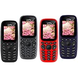 GLX W22 Pack Of 4 Dual Sim Basic Feature Mobile Phone (Grey+black+blue+red)