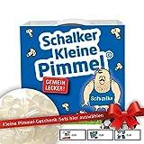 Schalker Kleine Pimmel | Lustiges Geschenk für Männer & FC Schalke 04-Fans| witziger Scherzartikel besser als schwarze dunkel blau weiße graue Tennis Sneaker Herren Männer Sport Socken Strümpfe Puma Falke