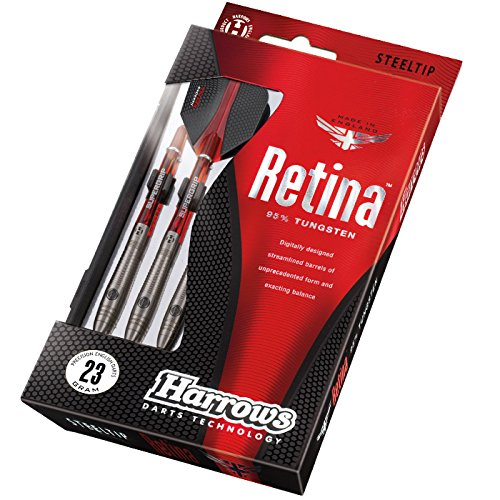Harrows Unisex-Adult Retina Steeltip Dart Steel, red, 26 g