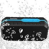 Sunvito - Mobiler Bluetooth Lautsprecher mit tolle Sound-Qualität und wasserdicht Wireless Speaker und eingebautem Mikrofon für iPhone, iPad, Samsung, Nexus, HTC und andere Android Geräte (Schwarz) (blau)