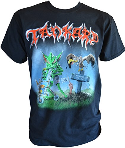 Tankard One Foot In The Grave T-Shirt Schwarz
