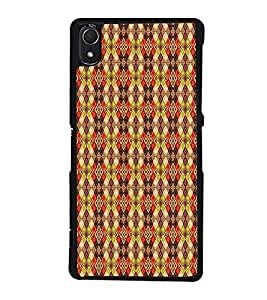 Colourful Pattern 2D Hard Polycarbonate Designer Back Case Cover for Sony Xperia Z2