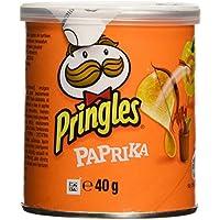 Pringles - Paprika - Producto de aperitivo frito al pimentón - 40 g - [Pack de 12]