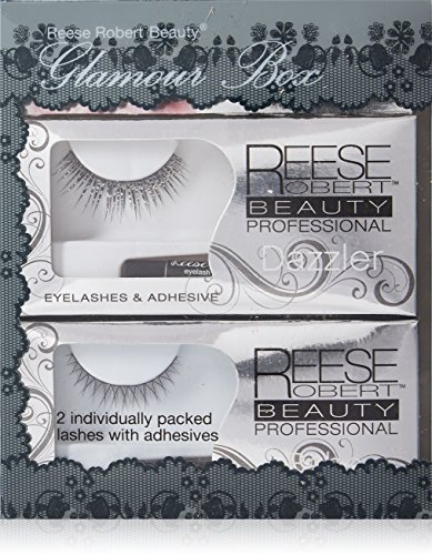 7fc8d29a9f6 Reese Robert Beauty Lash Glamour Box, Black, Strip, 2 Count