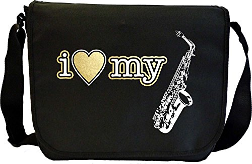 Schilf 3 Alto-saxophon (Saxophone Sax Alto I Love My - Sheet Music Document Bag Musik Notentasche MusicaliTee)