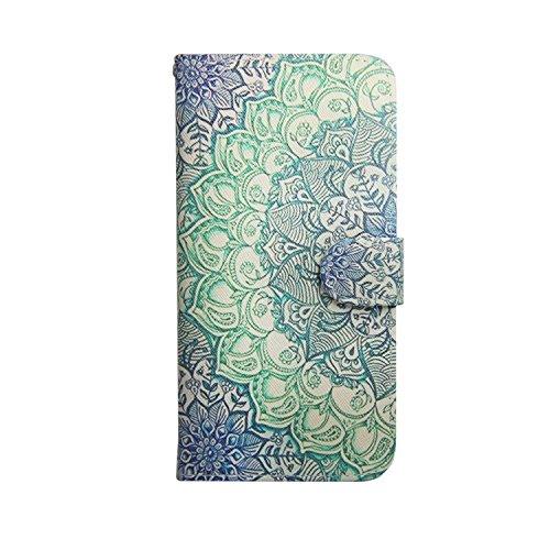 MOONCASE Étui pour iPhone 5 5S Case Coque Housse en Cuir Synthetique Cover à rabat de Protection [Beautiful Motif] ST06