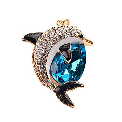 Lovemay Porte-clés en Alliage avec Petit Pendentif en Forme de tête de Poisson, Porte-clés idéal pour Les clés de Voiture, Les Sacs, la décoration de 11,7 cm 11.7cm Bleu