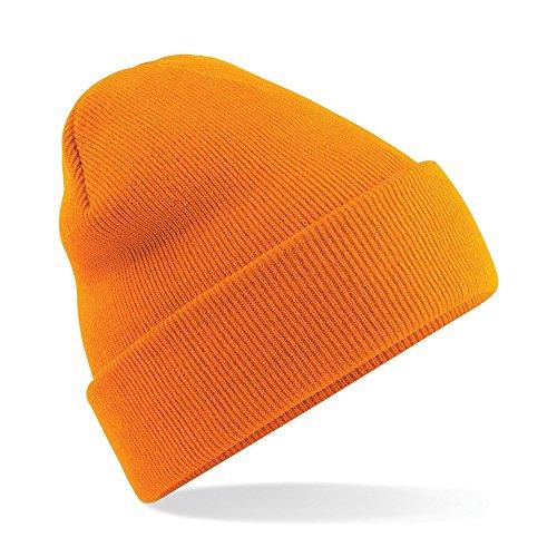 XXL Flap Long Beanie Slouch Mütze Damen Herren Wintermütze Skimütze (orange)