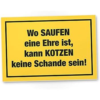 Don't Drink and Drive, Kunststoff Schild mit Spruch