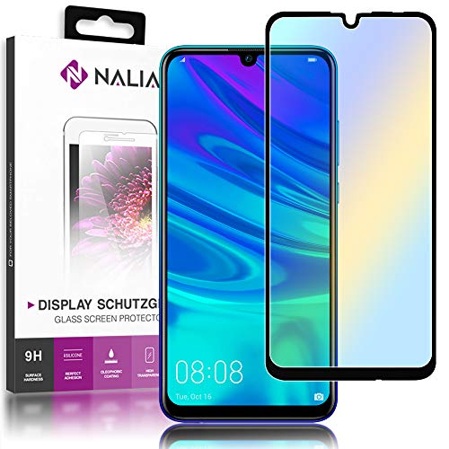 NALIA (2-Pack) Schutzglas kompatibel mit Huawei P smart 2019, 9H Full-Cover Display Schutz Glas-Folie, Handy Schutzfolie Bildschirm-Abdeckung Schutz-Film Screen Protector Tempered Glass - Transparent
