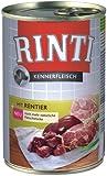 Rinti Hundefutter Rentier 400 g, 24er Pack (24 x 400 g)