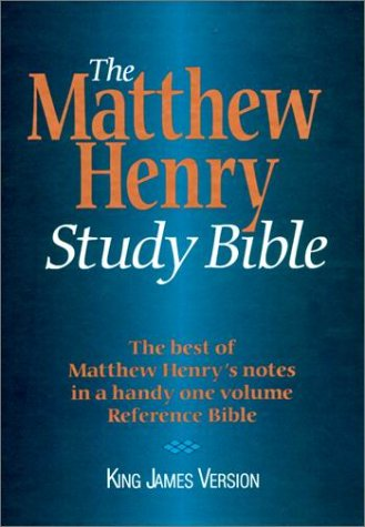 The Matthew Henry Study Bible: Mh50: King James Version