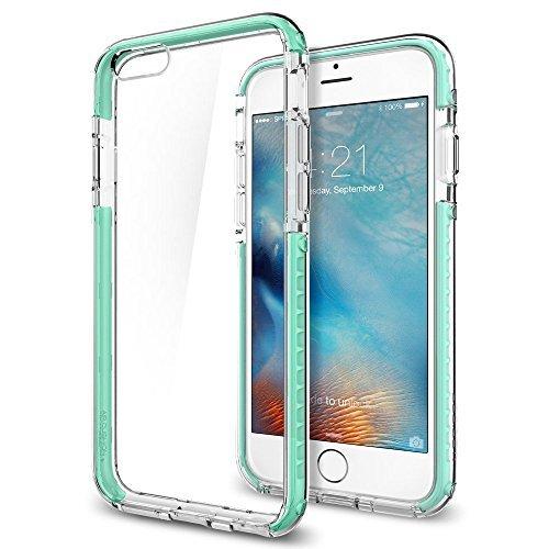 Spigen SGP11604 Ultra Hybrid Tech Kompatibel mit iPhone 6S/6 Hülle, Durchsichtige Rückschale & TPU-Bumper Schutzhülle Case Mint